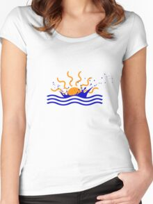 Sunset Splash Women's Fitted Scoop T-Shirt