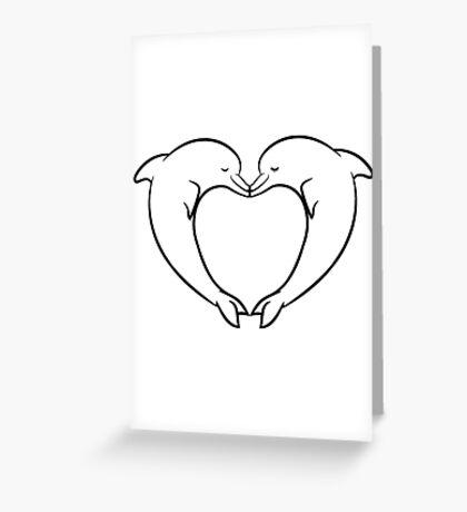 delfin liebe paar  Greeting Card