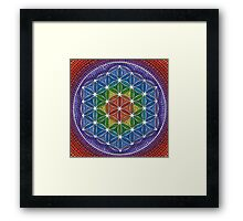 Rainbow Flower of Life Framed Print