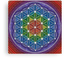 Rainbow Flower of Life Canvas Print