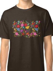 Colorful Flower Leaf Classic T-Shirt