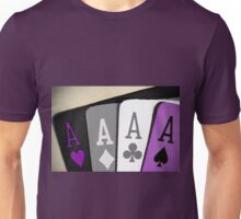 The Asexuality Blog - Four Aces Logo Unisex T-Shirt