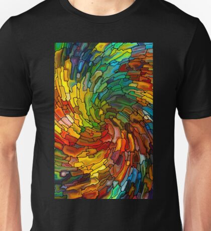 Stained GLass Colorful Unisex T-Shirt