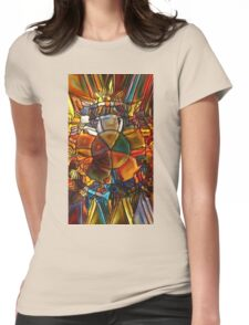 Psychedelic Stained Glass Womens Fitted T-Shirt
