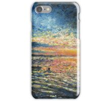 Sunset art, seascape painting iPhone Case/Skin