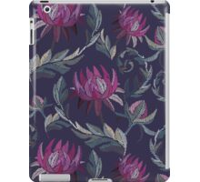 Embroidered flowers iPad Case/Skin