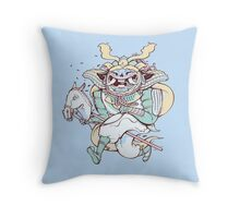 Samurai Hack Throw Pillow