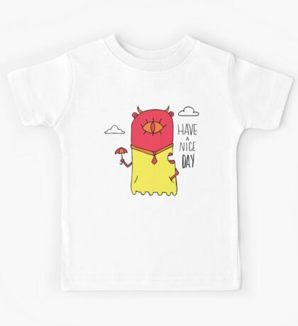 Have a Nice Day Illustration Kids Tee