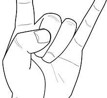 Heavy metal hand !  by Flibidi