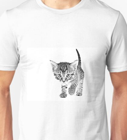 Kitten Sketch Unisex T-Shirt
