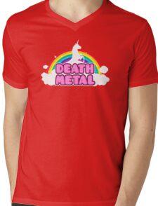 Unicorn Rainbow Death Metal Mens V-Neck T-Shirt