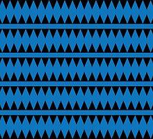 Blue Aztec Pattern by ArtfulDoodler