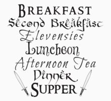 Second Breakfast Lord of the Rings by NerdGirlTees