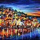 Quiet Town — Buy Now Link - http://goo.gl/BdG4Rj by Leonid  Afremov
