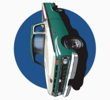 1966 Ford F100 Teal & White - iPhone Case Kids Clothes