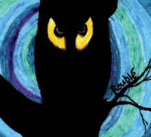 time for child stories: the EVIL OWL Sticker