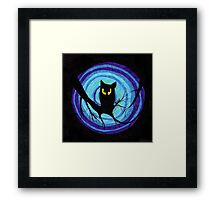 time for child stories: the EVIL OWL Framed Print