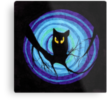 time for child stories: the EVIL OWL Metal Print