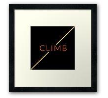 Rock Climbing Framed Print