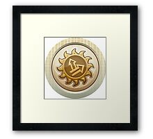 Glitch Achievement first humbaba emblem Framed Print