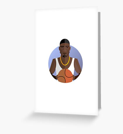athletic player, flat style Greeting Card