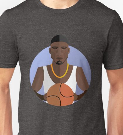 athletic player, flat style Unisex T-Shirt