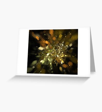 Metallic Particles Greeting Card