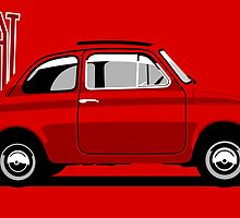 Classic Fiat 500F red by car2oonz