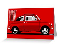 Classic Fiat 500F red Greeting Card