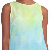 Watercolors - Pastel Blue & Yellow Contrast Tank