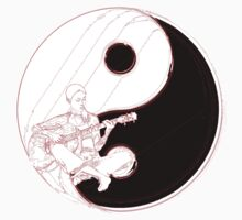 yin yang guitarist  Kids Clothes