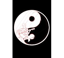 yin yang guitarist  Photographic Print