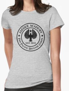 Jaeger Academy logo in black! Womens Fitted T-Shirt
