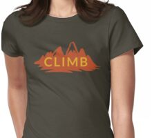 Rock Climbing Womens Fitted T-Shirt