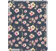 Navy Pink Cherry Blossoms iPad Case/Skin