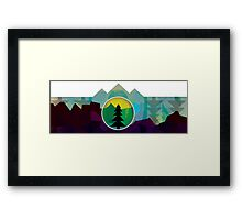 Moonset Mountains 3 Framed Print
