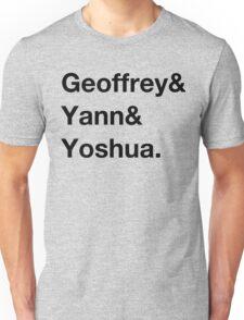 Deep learning conspiracy (Hinton,LeCun,Bengio) Unisex T-Shirt