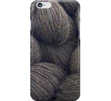 Natural Grey Handspun Yarn iPhone Case/Skin