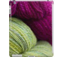 Green & Magenta Handspun Yarn iPad Case/Skin