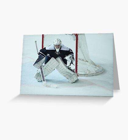 Hockey goalkeeper  Greeting Card