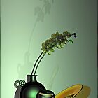 Still life with green orchid by andreisky