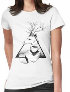 Metaphisical Deer Womens Fitted T-Shirt