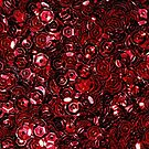 Red Scattered Sequins by Avril Harris