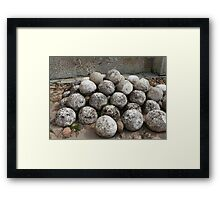 ancient stone kernel Framed Print