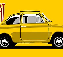 Classic Fiat 500F yellow by car2oonz