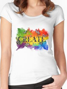 Create (black version) Women's Fitted Scoop T-Shirt