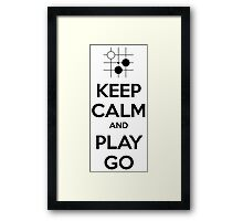 Keep Calm and Play Go Framed Print