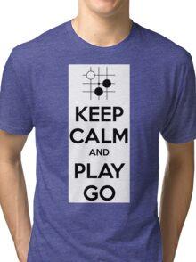 Keep Calm and Play Go Tri-blend T-Shirt