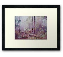 Glowing Mist Framed Print