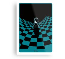 Chessboard Tarot Card Metal Print